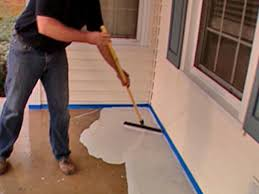 how to stamp a concrete porch floor