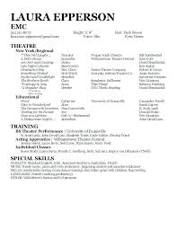 Beginner Acting Resume Sample Gorgeous Acting Resumes Colbroco