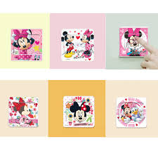 6pcs cartoon mickey mouse minnie mouse switch panel stickers home