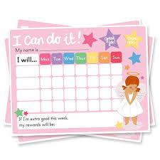 I Can Do It Chart Printable Girls Reward Chart Chore Chart Printable Sticker Chart