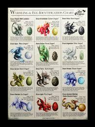 Egg Identification Chart Large Canvas Wyrmling Egg Identification Chart