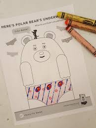 i had the kids design their own unique pair of underwear for polar bear with crayons stickers and glitter glue