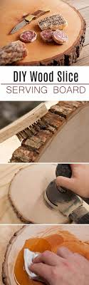 20 amazing diy decoration with wood slice 9 serving board