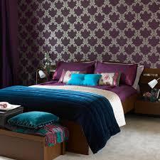 Appealing Turquoise Purple Bedroom