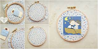 embroidery hoop picture frame collage