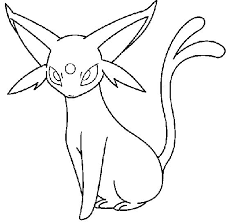 Small Picture Pokemon Espeon Coloring Pages Crafts Pinterest Pokmon