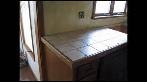 Kitchen Countertop Tile Ceramic Tile Kitchen Counter Top Youtube