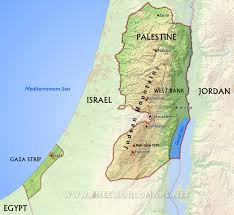 palestine maps  by freeworldmapsnet