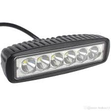 6 Inch Led Work Light 6 Inch 18w Led Work Light Bar For Indicators Motorcycle Driving Offroad Boat Car Tractor Truck 4x4 Suv Atv Spot Flood 12v The Led Light The Led Lights
