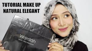 tutorial makeup hijab one brand wardah natural elegant ussiy fauziah