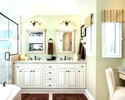 old style vanity mirror farmhouse bathroom dresser used as sinks floors white tile shaker