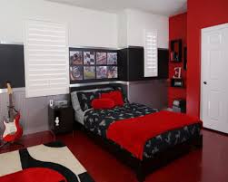 Red Black And White Bedroom Car Bedroom Decorating Ideas Man Cave Design With Grey Ceramic