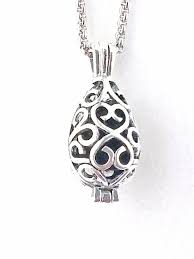 filigree teardrop essential oil diffuser necklace aromatherapy necklace