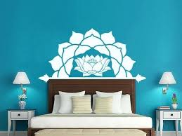full size of winsome half lotus flower vinyl wall decals master bedroom headboard bohemian mandala pattern