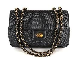 100% Auth BALLY Quilted Leather Chain Shoulder Bag Black Made In ... & Image is loading 100-Auth-BALLY-Quilted-Leather-Chain-Shoulder-Bag- Adamdwight.com