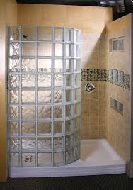 Bathroom, Small Shower Bathroom Design Glass Block Shower Mulia Wave And  Clear Doorless Showers Designs: Delightful Modern Interior Doorless Shower  Designs