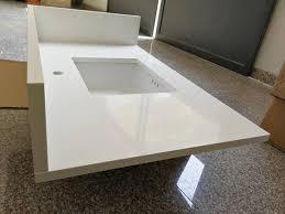 prefab quartz vanity top with sink