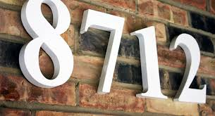 painted house numbers template number and throughout large address designs 12