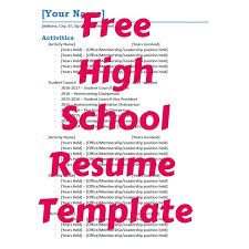 Resume Samples For Team Leader Position Free High School Resume