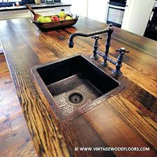 wood bathroom countertop the vintage wood floor company accents counter tops bar tops and reclaimed wood