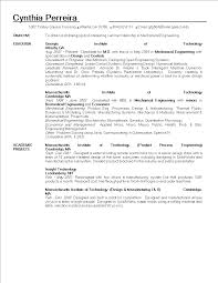 Mechanical Engineering Student Resume Templates At