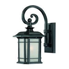 acclaim lighting somerset collection 1 light matte black outdoor wall mount light fixture