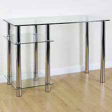 glass table office. clear glass top pc computer desk with base unit shelf home officestudy table office