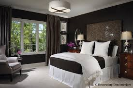 Chocolate brown and white bedroom contemporary-bedroom