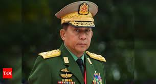 Myanmar news: Myanmar army chief says coup was 'inevitable' | World News -  Times of India