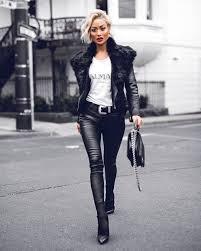 blogger melbourne australia street style farfetch balmain rebecca vallance house of harlow camilla and marc chanel leather biker jacket designer luxury