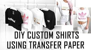 easy diy custom t shirts wver design you want how to use transfer paper