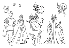 Small Picture Sleeping Beauty Coloring Page Free For Girls Cute pages of