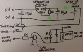 convert digital mains timer to low voltage reuk co uk circuit diagram for a relay controlled by a converted mains powered programmable timer