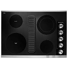 kitchenaid 30 in electric downdraft cooktop in stainless steel with 4 elements