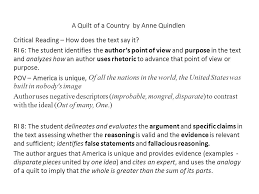 Close, Critical, and Generative Reading: Meeting Michigan's ... & 13 A Quilt of a Country ... Adamdwight.com