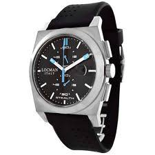 locman watch locman sport rubber stealth men s quartz watch