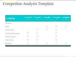 Competitive Matrix Template Market Competitor Analysis Template In Competitive Real Estate