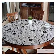 tablecloth pvc round tablecloth waterproof glass table mat transpa round tablecloth color b