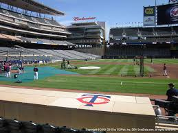 Target Field Suite Seating Chart Target Field View From Dugout Box 4 Vivid Seats