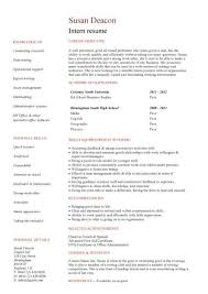 no work experience intern resume sample resume with no job experience