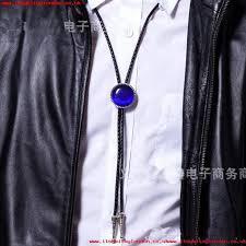 Elegant Cowboy Bolo Tie Women Men Fashion Jewelry Black Tie