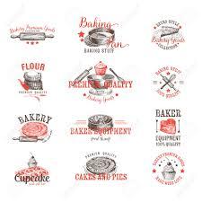 Bakery Logos Design Vector Set Of Bakery Logos Labels Badges And Design Elements
