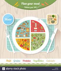 Vegan Healthy Diet And Eatwell Plate Concept Food Icons And