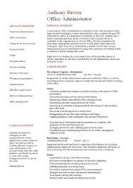 Sample Office Manager Resume Resume Templates