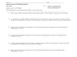 Ideal Gas Law Problems Worksheet | Homeschooldressage.com