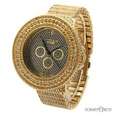 gold cz large face urban watch hip hop jewelry urban style watches