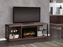 leif electric fireplace tv stand in turbinado brown