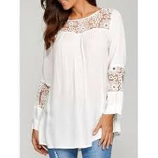 Plus Size Lace Trim <b>Curved</b> Hem Blouse | <b>Fashion</b> DIY - remakes ...