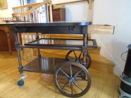 tea cart wheels details about vintage wooden drop leaf tea cart table with wheels local pickup