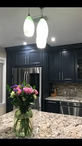 Loving My New Kitchen Kraftmaid Midnight Kitchen Cabinets Home